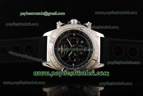 Breitling Chronomat B01 AB011012 Black Rubber Steel Watch