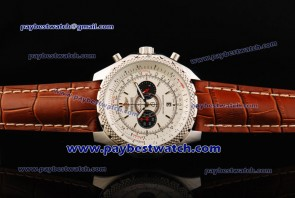 Breitling Bentley Supersports A2636412 Brown Leather Steel Watch