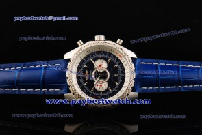 Breitling Bentley Supersports A2636412 Blue Leather Steel Watch