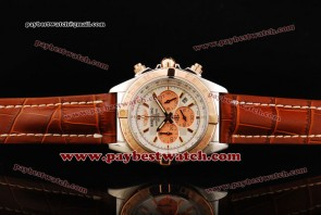 Breitling Chronomat B01 cB011012 Rose Gold Bezel Steel Watch