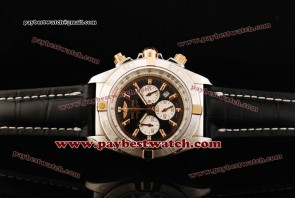 Breitling Chronomat B01 IB011012 Leather Steel Watch