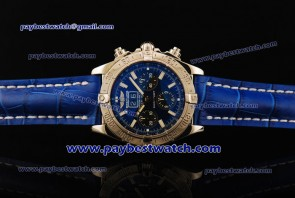 Breitling Black Bird a4435912/b811-blult Blue Leather Steel Watch