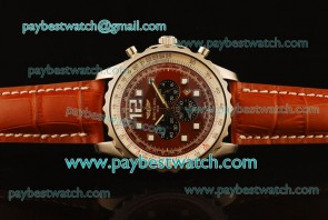 Breitling Chronospace A2336035 Red Leather Steel Watch