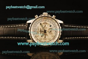Breitling Chronospace A2336035 Whtie Dial Steel Watch