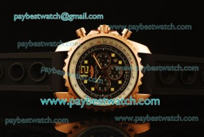 Breitling Chronospace H2336035 Rubber Rose Gold Watch