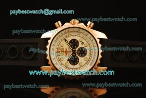 Breitling Chronospace A2336035 White Dial Rose Gold Watch