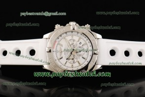 Breitling Chronomat B01 AB011012 White Rubber Steel Watch