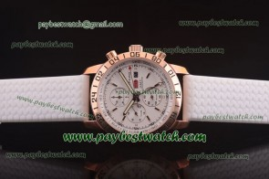 Chopard Mille Miglia GMT Chrono For 2012 161288-5001 White Rubber Rose Gold Watch