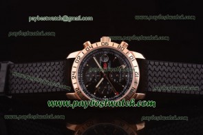 Chopard Mille Miglia GMT Chrono For 2012 161288-5001 Black Rubber Rose Gold Watch