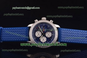 Chopard Mille Miglia GMT Chrono For 2012 161288-5001 Blue Rubber Steel Diamond Watch