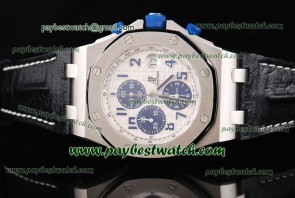 Audemars Piguet Royal Oak Offshore 26020ST.OO.D020IN.01 Black Leather Steel Watch Sec@12