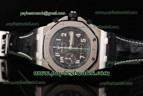 Audemars Piguet Royal Oak Offshore 26020ST.OO.D001IN.01.A Black Leather Steel Case Watch Sec@12