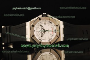 Audemars Piguet Royal Oak Offshore Divers 15703ST.OO.A002CA.01.wt Black Rubber Steel Watch