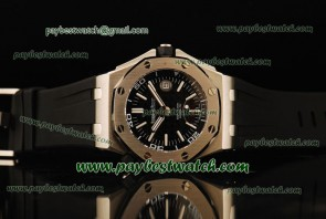 Audemars Piguet Royal Oak Offshore Divers 15703ST.OO.A002CA.01 Black Rubber Steel Watch