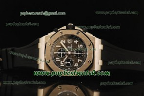 Audemars Piguet Royal Oak Offshore 1:1 26020ST.OO.D001IN.01.A Black Rubber Titanium Watch  Sec@12