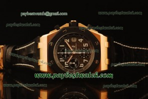 Audemars Piguet Royal Oak Offshore 25940OK.OO.D002CA.01.A Black Leather Rose Gold Watch Sec@12
