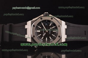 Audemars Piguet Royal Oak Offshore Divers 1:1 15703ST.OO.A002CA.01 Black Rubber Steel Watch