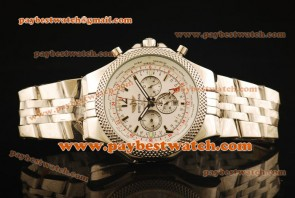Breitling Bentley GMT a4736212/g657-ss White Dial Steel Watch