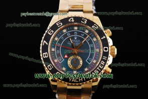 Rolex Yacht-Master II 116688 Black Bezel Gold Watch