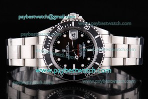 Rolex Pro-Hunter Edition Submariner 116613LN White Markers Black Dial Steel Watch