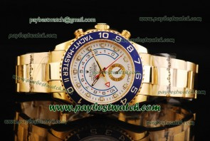 Rolex Yacht-Master II 116688 White Dial Gold Watch
