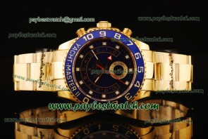 Rolex Yacht-Master II 116688 Blue Bezel Black Dial Gold Watch