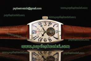 Franck Muller Aeternitas Res Tourbillon 8888 Leather Steel Watch