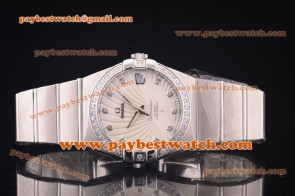 Omega Constellation 38mm 123.55.38.21.51.009 Steel Diamond White Dial Watch