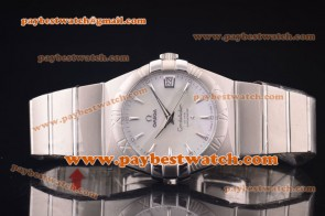 Omega Constellation 38mm 123.10.38.21.02.004 Steel White MOP Dial Watch