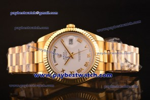Rolex Day Date II White Dial Yellow Gold Watch