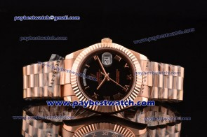 Rolex Day Date II 218235 brp Black Dial Rose Gold Watch
