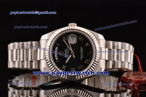 Rolex Day Date II 41MM 218239 bsrp Black Dial Steel Watch