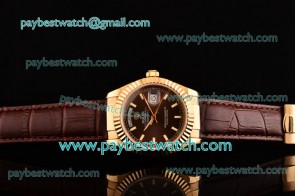Rolex Day-Date 118238/39 brol Black Dial Gold Watch