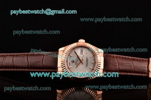 Rolex Day-Date 118235/39 ssl White Dial Rose Gold Watch