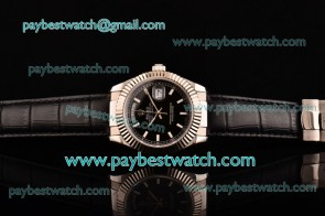 Rolex Day-Date 118239/39 bksl Black Dial Steel Watch