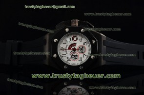 Audemars Piguet Alinghi Chrono 26062fs.oo.a002ca.02 White Dial Black Rubber Strap PVD Watch