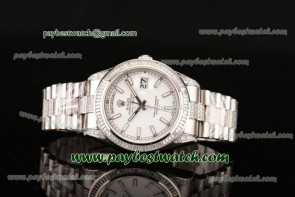Rolex Day-Date II 218349DD wsp White Dial Diamond Bezel Steel/Diamond Watch