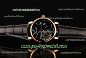 A. Lange & Sohne Richard Lange Tourbillon Pour le Merite 760.032 Black Dial Rose Gold Watch
