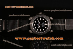 Rolex Pro-Hunter Military Submariner 114270 bao Black Dial Black Nylon Bracelet PVD Watch(BP) 1:1 Original Best Edition 2813/2836/Clone Rolex 3130/Super Clone Rolex3130
