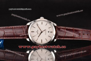 Omega De Ville Tresor Master Co-Axial 432.53.40.21.02.004 White Textured Dial Steel Watch