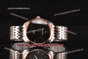 Omega De Ville Tresor Master Co-Axial 432.53.40.21.02.112 Black Dial Two Tone Watch