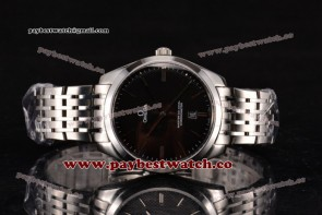 Omega De Ville Tresor Master Co-Axial 432.53.40.21.02.212 Black Dial Steel Watch