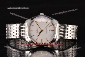 Omega De Ville Tresor Master Co-Axial 432.53.40.21.02.202 White Dial Steel Watch