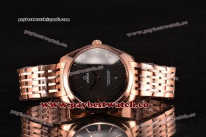 Omega De Ville Tresor Master Co-Axial 432.53.40.21.02.312 Black Dial Rose Gold Watch