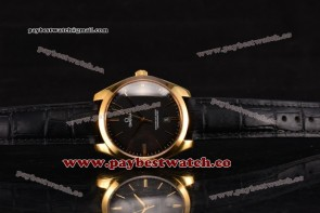 Omega De Ville Tresor Master Co-Axial 432.53.40.21.02.002 Black Dial Black Leather Yellow Gold Watch