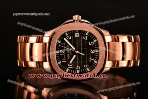 Patek Philippe Aquanaut 5167R-RG Black Dial Full Rose Gold Watch (BP)