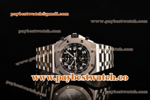 Audemars Piguet Royal Oak Offshore Chrono 26170st.oo.1000st.08 Black Dial Full Steel Watch (NOOB)