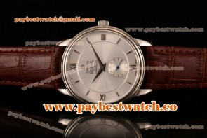 Omega De Ville Co-Axial 431.53.41.22.14.002 Silver Dial Brown Leather Steel Watch