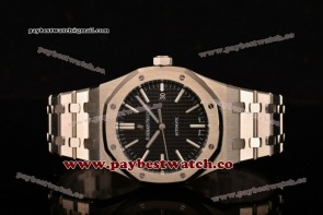 Audemars Piguet Royal Oak 41mm 15400st.oo.1220st.01 Black Dial Full Steel Watch 1:1 Original (JF)