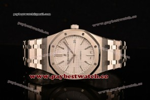 Audemars Piguet Royal Oak 41mm 15400st.oo.1220st.02 White Dial Full Steel Watch 1:1 Original (JF)